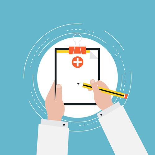 Illustration of medical chart