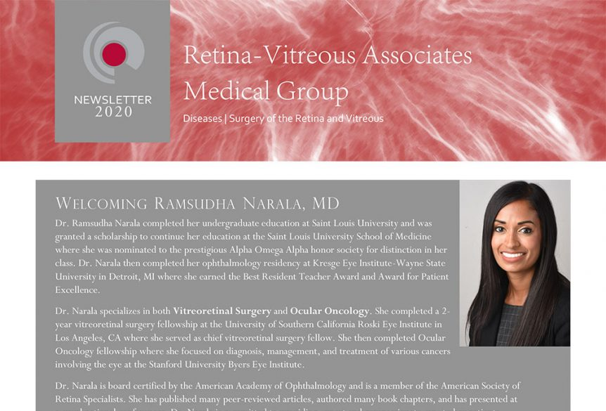 Retina Vitreous Medical Associates Medical Group Newsletter 2020